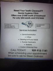 AFFORDABLE teeth cleanings
